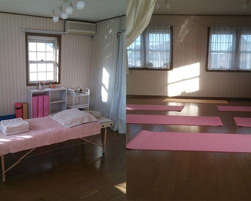 診療室およびヨーガ